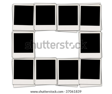 Blank Instant Photos Isolated on White