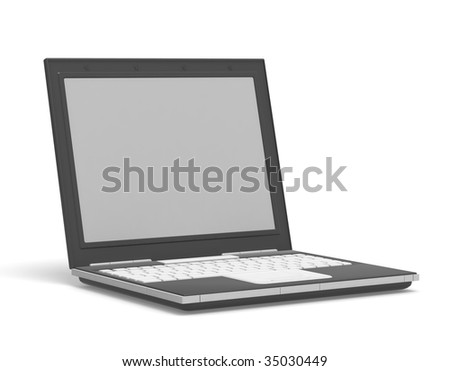 Blank isolated laptop with copyspace