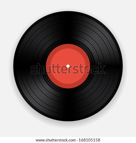 Blank isolated vinyl record (raster illustration) - stock photo