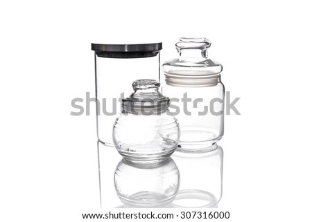 Blank Jar isolated on White background - stock photo