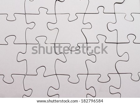 blank jigsaw puzzle - stock photo
