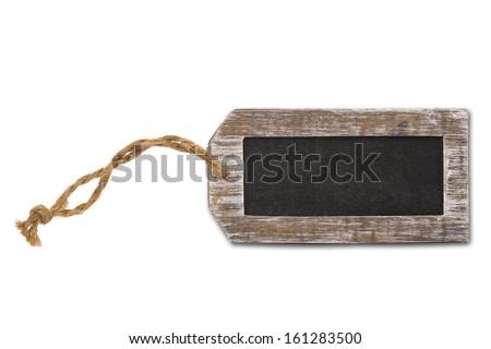 Blank label, blackboard - stock photo