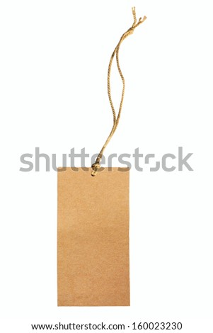 Blank label isolated on white.
