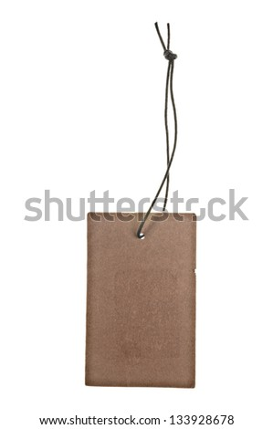 Blank label or tag isolation on white - stock photo