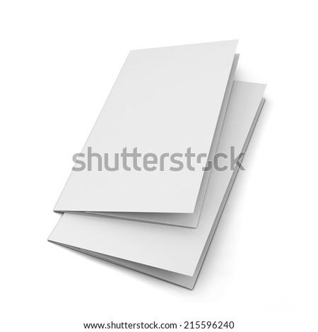 Blank leaflet. 3d illustration isolated on white background  - stock photo