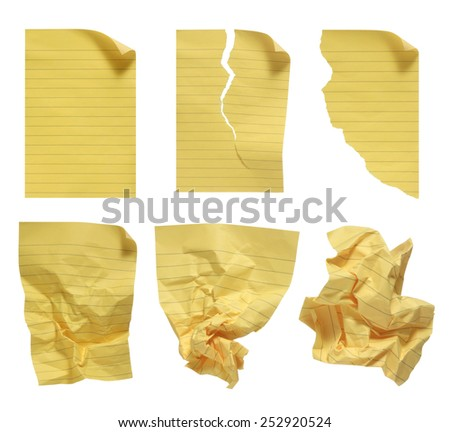 Blank legal pad.  - stock photo