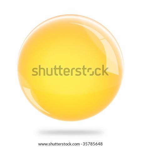 Blank Light Orange Sphere Float - stock photo