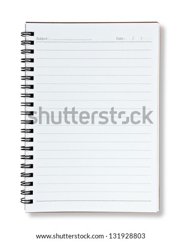 blank lined notebook