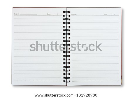 blank lined notebook - stock photo