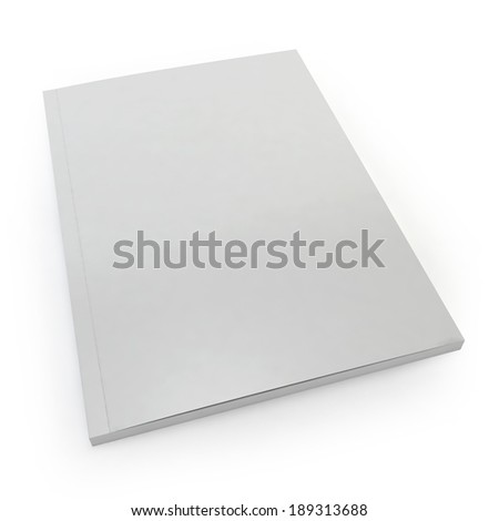 Blank magazine. 3d image isolated on white background  - stock photo