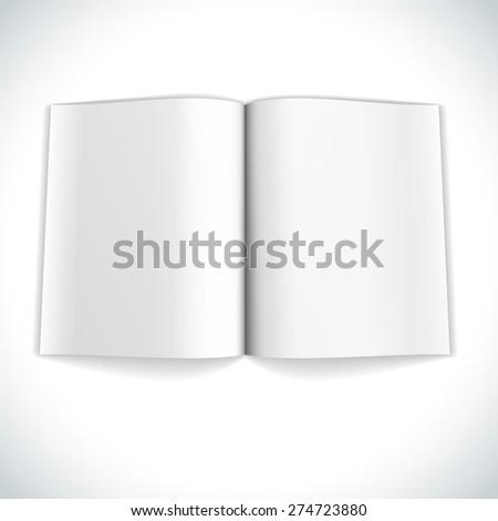 Blank magazine double page spread illustration. - stock photo