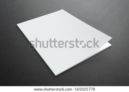 Blank Magazine on dark Background with soft shadows - stock photo