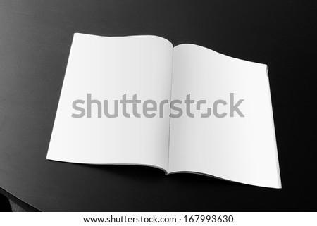 blank magazine on the table - stock photo