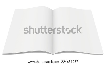 blank magazine on white background. Template for design