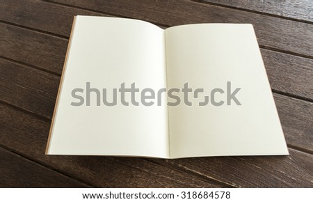 blank magazine or books  on wooden background. free space for text.