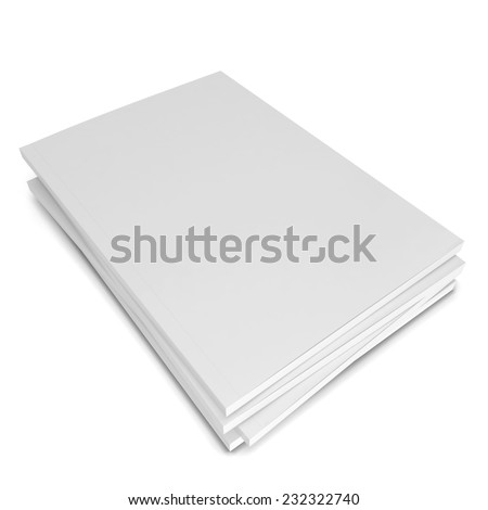 Blank magazines. 3d illustration isolated on white background  - stock photo