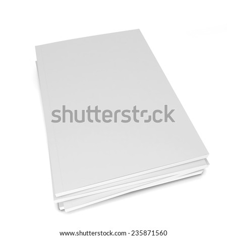 Blank magazines. 3d illustration isolated on white background