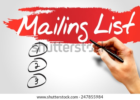 Blank Mailing list, business concept - stock photo