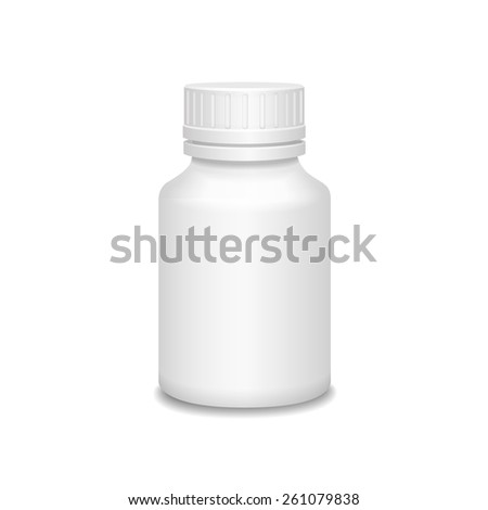 Blank medicine bottle  illustration. Package of drugs isolated - stock photo