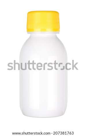 Blank medicine bottle isolated on white background with clipping path