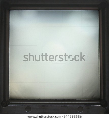 Blank Medium Format Viewfinder Frame Abstract Stock Photo (Royalty ...