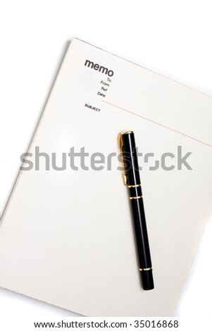 Blank memo pad notebook to insert text, copy space