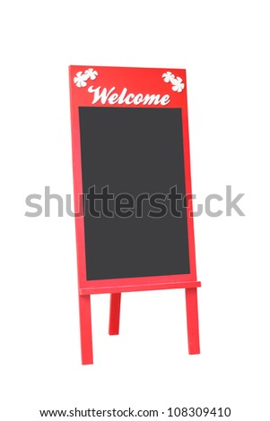Blank Menu Board Isolated On White Background - stock photo