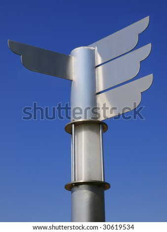 Blank metal direction signpost - stock photo