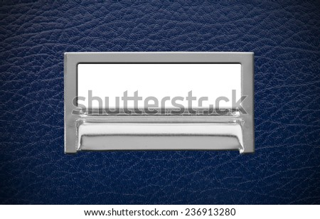 Blank Metal File Label Frame.  Ready for Your Own Message.  - stock photo