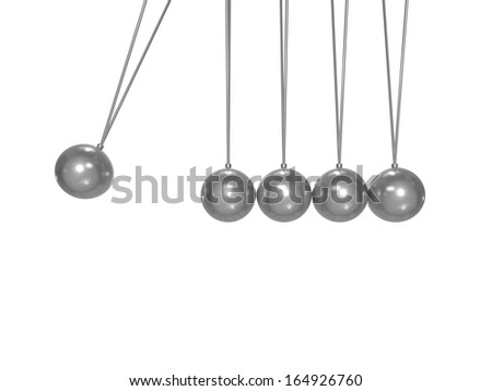blank metallic momentum concept with clipping path - stock photo