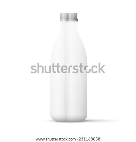 Blank Milk or Juice Pack isolated on white background.  - stock photo