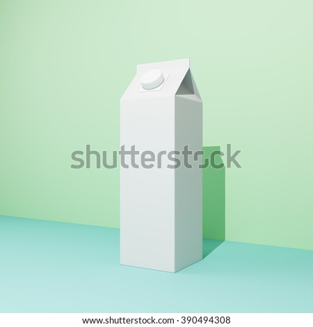 Blank milk package in pastel colors