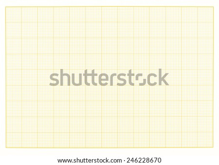 Blank millimeter grid yellow paper sheet background or textured - stock photo