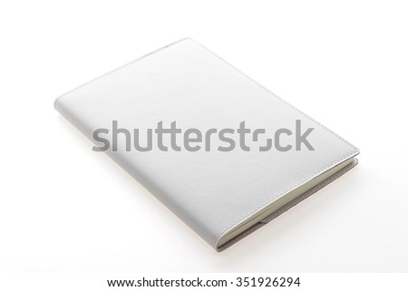 Blank Mock up book isolated on white background