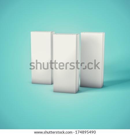 Blank Mockup Box - stock photo