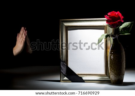 Blank Mourning Frame Sympathy Card On Stock Photo (Download Now ...