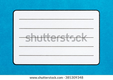 Blank name label of blue Exercise book