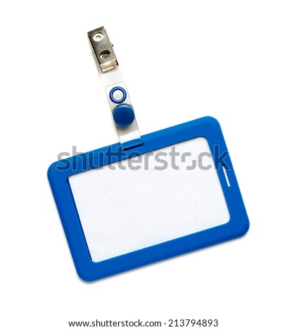 Blank Name Tag on White