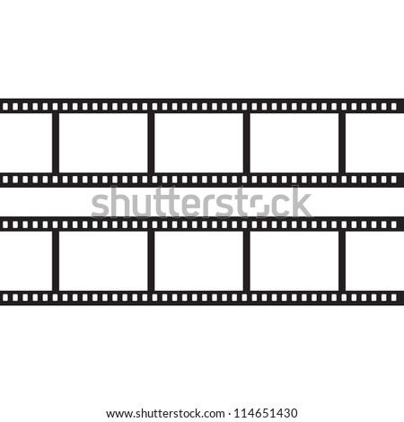 Blank negative film - stock photo