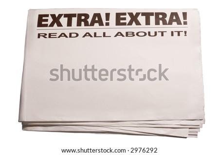 blank newspaper - stock photo