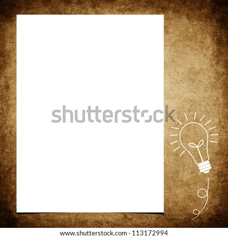 Blank note paper on grunge background