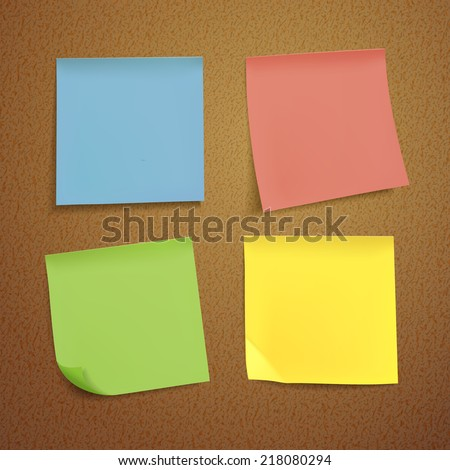 blank note paper set on brown background