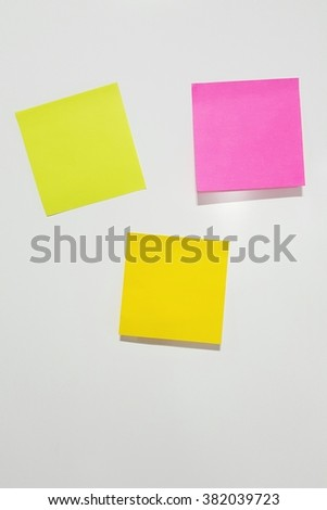 blank note paper stick on refrigerator