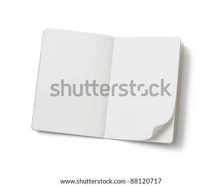Blank notebook - stock photo