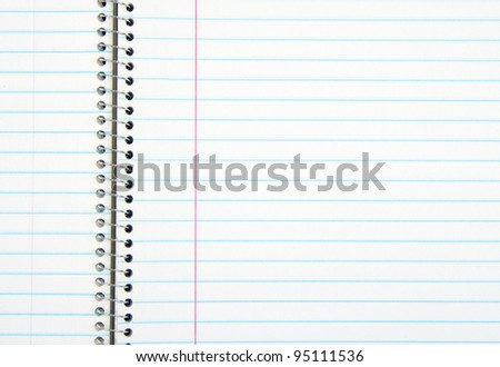 Blank notebook for background - stock photo