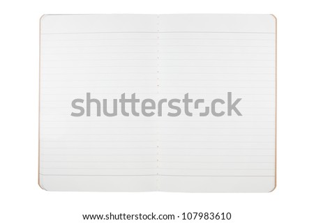 blank notebook from recycle paper isolated on white background - stock photo