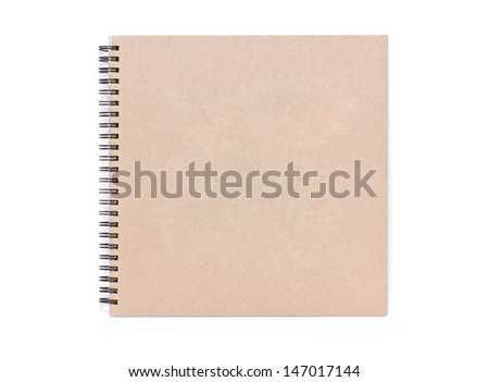Blank notebook isolated on white.