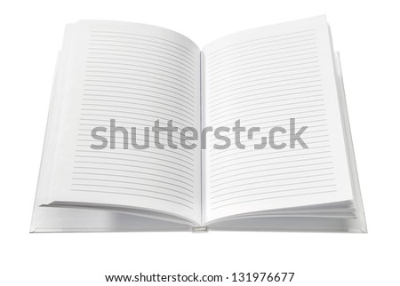 Blank Notebook isolated on white background. Copy Space.