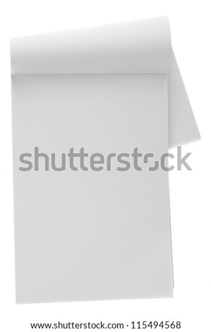 Blank notebook isolation on white - stock photo
