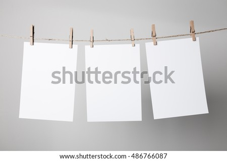 Blank Notebook Mock-up on white background